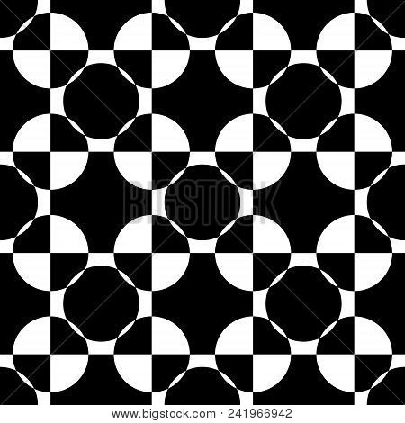 Abstract Black On White Quarter Circle Games X 16