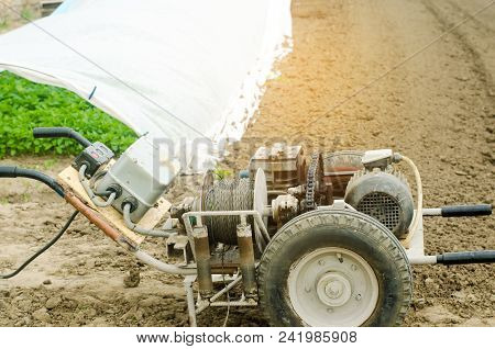 Electric Winch Or Cultivator For Of Agricultural Work, Farming, Cultivation, Agro-industry, The Chai