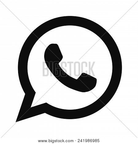 Whats App Icon Simple Vector Sign And Modern Symbol. Whats App Vector Icon Illustration, Editable St