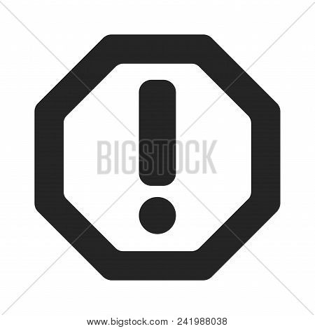 Attention Icon Simple Vector Sign And Modern Symbol. Attention Vector Icon Illustration, Editable St