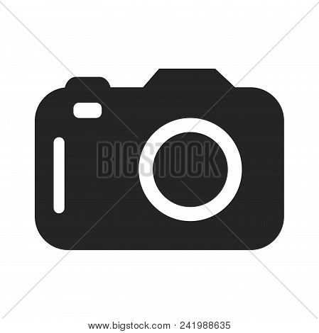 Photo Camera Icon Simple Vector Sign And Modern Symbol. Photo Camera Vector Icon Illustration, Edita
