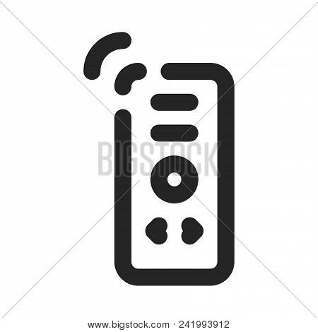 Remote Control Icon Simple Vector Sign And Modern Symbol. Remote Control Vector Icon Illustration, E