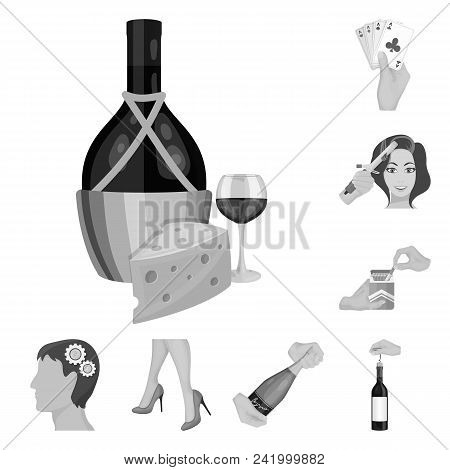 Manipulation By Hands Monochrome Icons In Set Collection For Design. Hand Movement Vector Symbol Sto