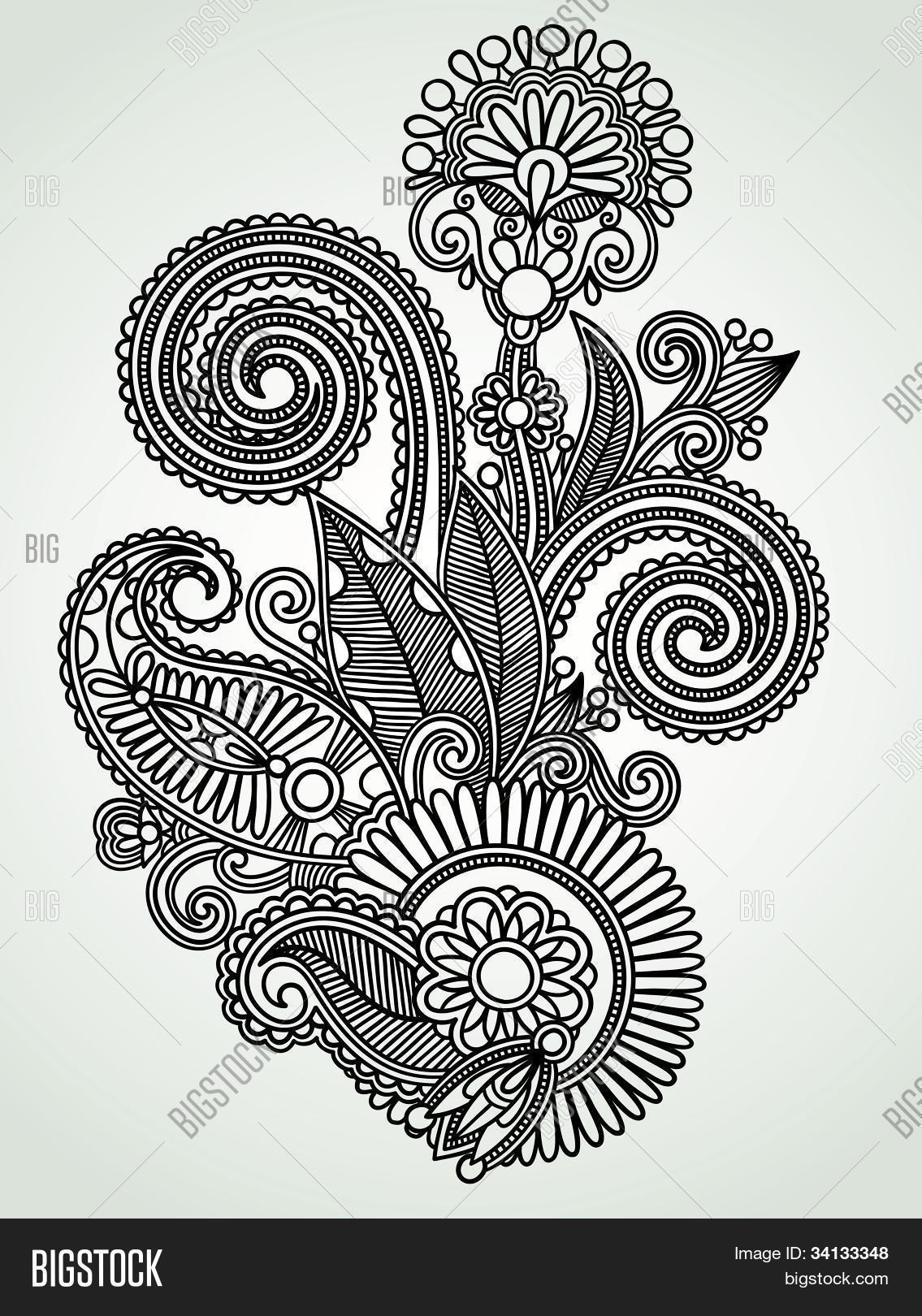 Henna Floral Tattoo Vector Photo Free Trial Bigstock