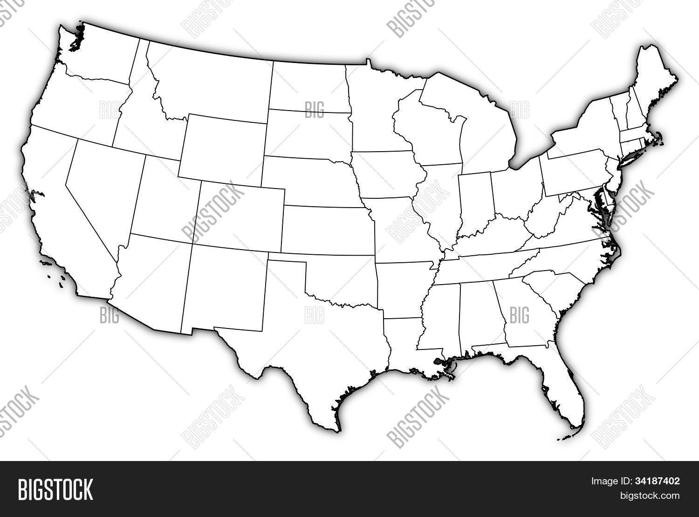 Map Of United States Washington Dc.Map United States Image Photo Free Trial Bigstock