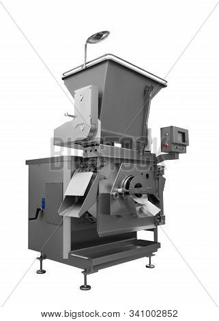 Industrial Machine Of Food Industry, Production Line In Food Factory Line Conveyor Machine Isolated
