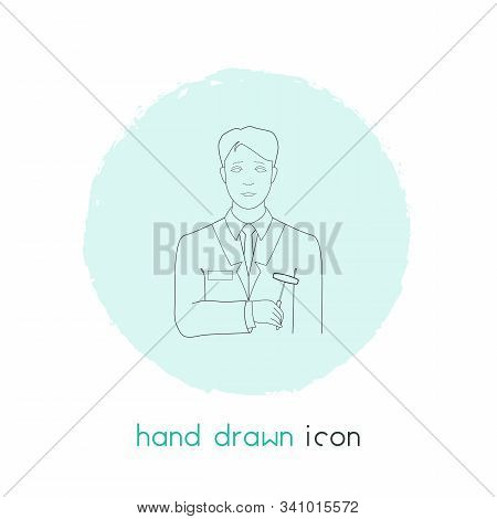 Psychiatrist Icon Line Element. Vector Illustration Of Psychiatrist Icon Line Isolated On Clean Back