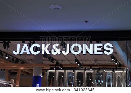 Barcelona, Spain - September 29th 2019: Jack And Jones Shop In Maremagnum Shopping Mall In Barcelona