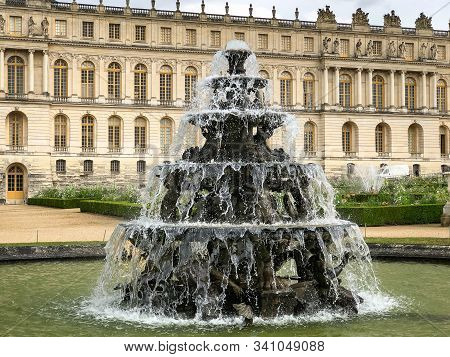 Multi Level Fountain At The Palace Of Versailles Outside Paris
