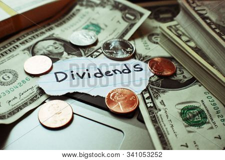 Passive Income Concept Through Investing In Dividend Paying Stocks Or Bonds High Quality