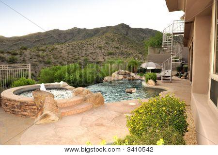 Negative Edge Pool On Mountainside Lot
