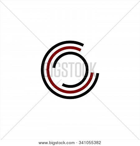 Simple C, Cc, Ccc, Cco Initials Company Logo