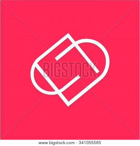 Simple Dd, Pp, Dp, Pd Initials Line Art Company Logo With Heart Shape