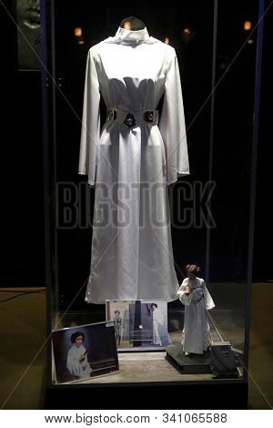 LOS ANGELES - DEC 19: Carrie Fisher Pop Up Museum during the Opening night celebrations of Star Wars: The Rise Of Skywalkerr at the TCL Chinese Theatre IMAX on December 19, 2019 in Los Angeles, CA