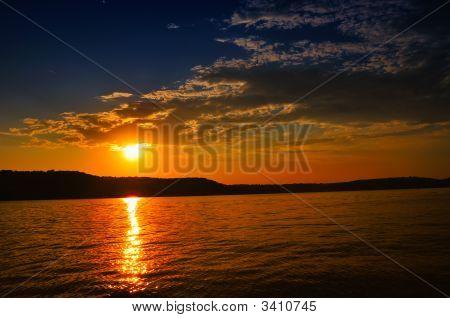 Sunset On Brookville Lake, Indiana, Usa