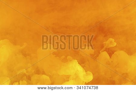 Fiery Yellow-orange Abstract Background. Cool Trending Screensaver.