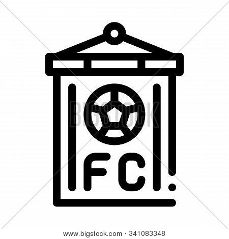 Soccer Command Flag Icon Vector. Outline Soccer Command Flag Sign. Isolated Contour Symbol Illustrat