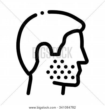 Human Facial Bristle Icon Vector. Outline Human Facial Bristle Sign. Isolated Contour Symbol Illustr