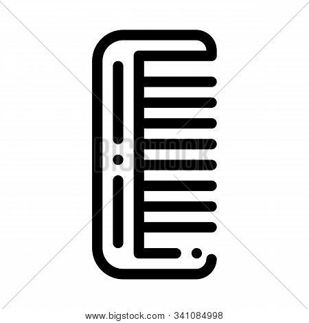 Hairbrush Hair Comb Icon Vector. Outline Hairbrush Hair Comb Sign. Isolated Contour Symbol Illustrat