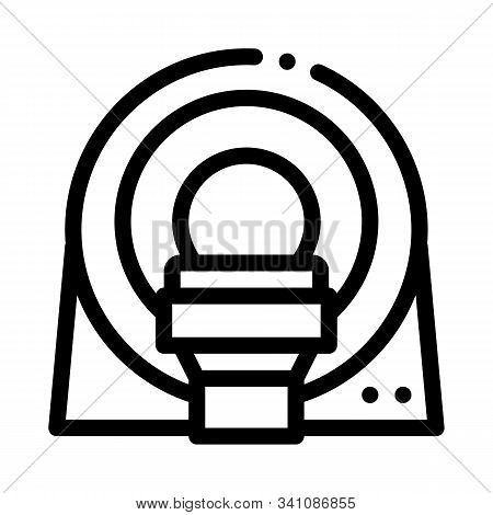 Mri Diagnosis Apparatus Icon Vector. Outline Mri Diagnosis Apparatus Sign. Isolated Contour Symbol I