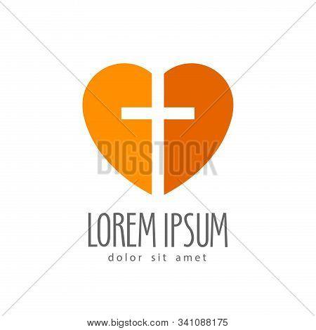 Christianity Symbol Of Jesus Christ. Cross, Worship Vector Logo