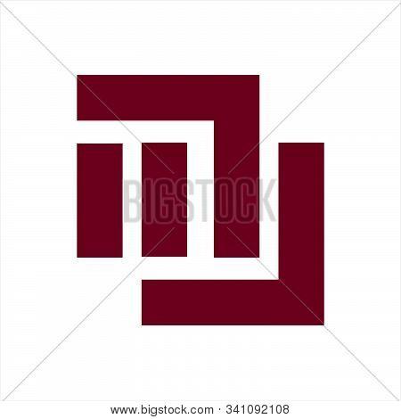 Mu, Nu, Mw, Wm, Um Initials Geometric Letter Company Logo