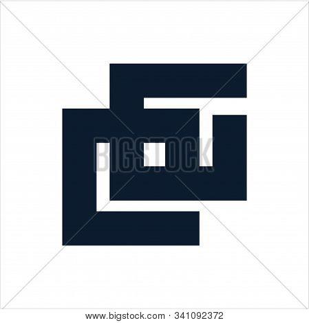 Cg, Eg, Gg Initials Geometric Letter Company Logo