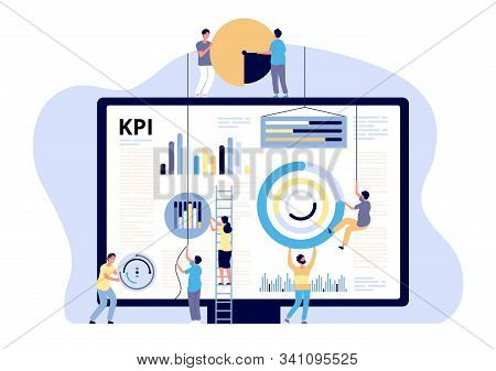 Kpi Concept. Key Performance Indicator Marketing, Business Digital Metric. Campaign Measuring, Produ