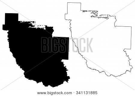 Clark County, Arkansas (u.s. County, United States Of America,usa, U.s., Us) Map Vector Illustration