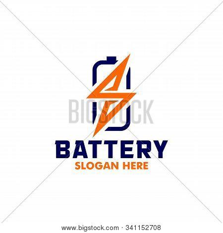 Electric Logo, Battery Logo, Vector Logo, Energy Logo, Electric Logo And Icon Vector Design Template