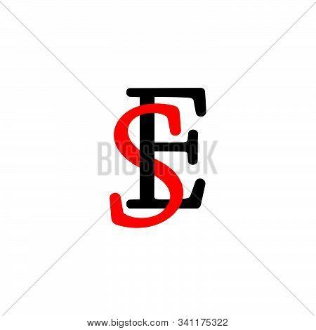 Letter Se Linked Font Colorful Design Symbol Vector