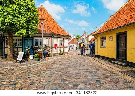 Colored Traditional Houses In Old Town Of Odense, Denmark
