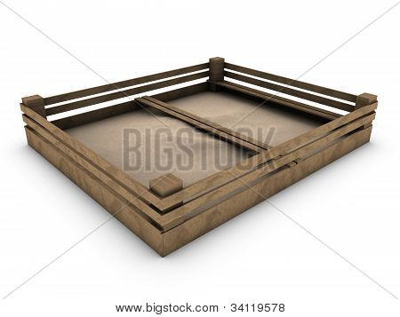 Sandbox Isolated On White