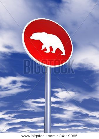 Bear Sign For Traffic