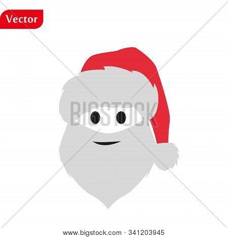 Christmas Background With Santa Claus Merry Christmas And Happy New Year Ho-ho-ho Vector Illustratio