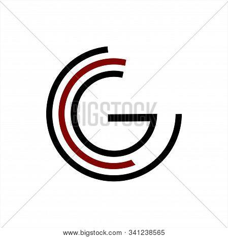G, Ccg, Cg Initials Geometric Network Line Logo