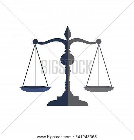 Law Firm And Attorney Icon And Vector Logo