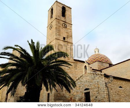 View of the historic church of San Paolo in Olbia, Sardinia poster