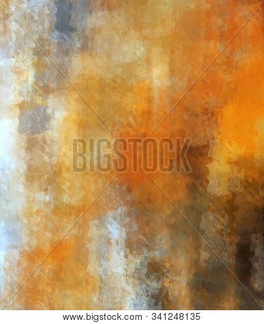 Abstract Brush Painting. Brushstrokes , Spots Of Paint. Multicolored Background. Painted Rouge Textu