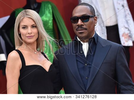 LOS ANGELES - SEP 28:  Paige Butcher and Eddie Murphy arrives for 'Dolemite Is My Name' Los Angeles Premiere on September 28, 2019 in Westwood, CA