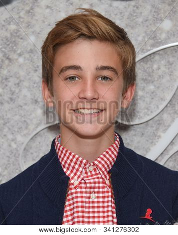 LOS ANGELES - DEC 07:  Parker Bates arrives for the Brooks Brothers Holiday Celebration Honoring St. Jude on December 07, 2019 in West Hollywood, CA