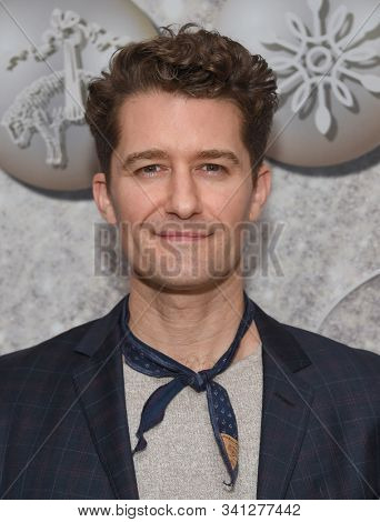 LOS ANGELES - DEC 07:  Matthew Morrison arrives for the Brooks Brothers Holiday Celebration Honoring St. Jude on December 07, 2019 in West Hollywood, CA