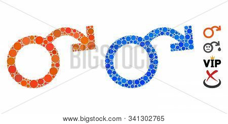 Impotence Composition Of Small Circles In Different Sizes And Color Hues, Based On Impotence Icon. V