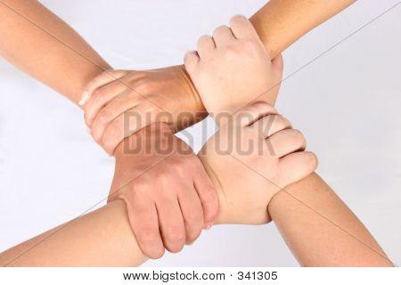 Arretierung der Hände