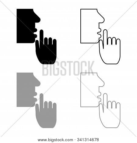 Keep Silence Concept Man Shows Index Finger Quietly Person Closed His Mouth Shut His Lip Shh Gesture