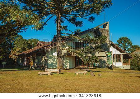 Cambara Do Sul, Brazil - July 16, 2019. Aparados Da Serra National Park Visitor Center, Near The Ita