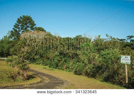Cambara Do Sul, Brazil - July 16, 2019. Paved Trail In Aparados Da Serra National Park, Near The Ita