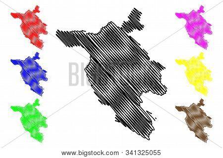 West Herzegovina Canton (bih, Federation Of Bosnia And Herzegovina, Fbih) Map Vector Illustration, S