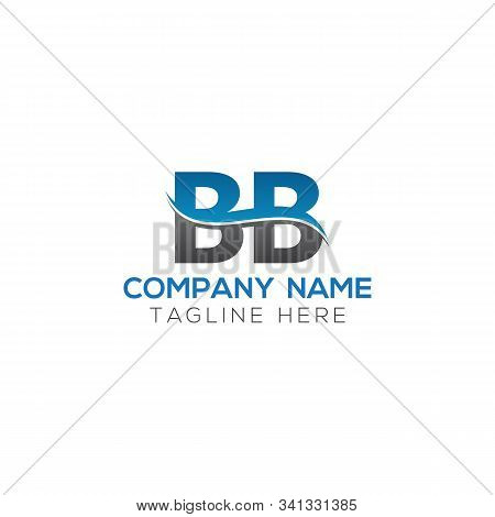 Bb Letter Logo With Water Wave Business Typography Vector Template. Creative Abstract Letter Bb Logo