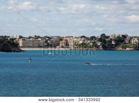 View From The Ramparts At The Town Of Dinard. Saint Malo, Brittany, France